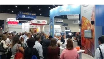 AFP 2017 conference view from Kyriba's booth